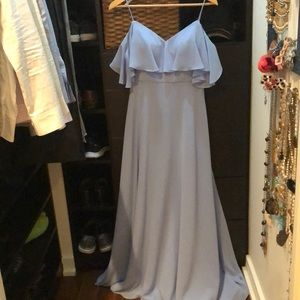 Morilee cornflower blue gown
